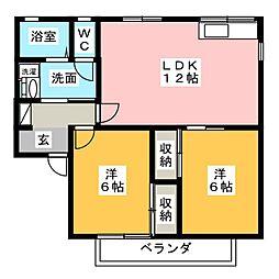 Kita壱番館[2階]の間取り