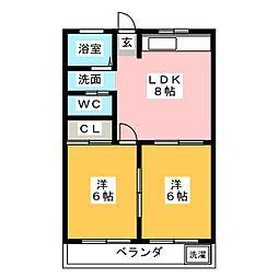 八事ビル[5階]の間取り