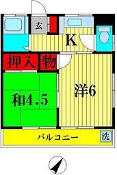 第一コーポ金井[2階]の間取り