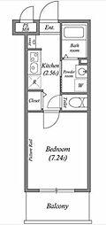 都営浅草線 泉岳寺駅 徒歩6分の賃貸マンション 1階1Kの間取り