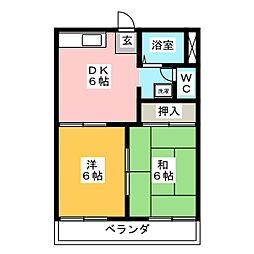 フレグランスYOSHIDA[1階]の間取り