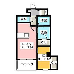 アガティス東静岡[6階]の間取り