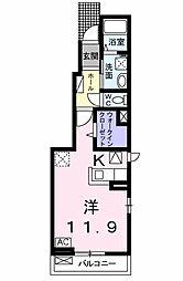 エトワールB[1階]の間取り