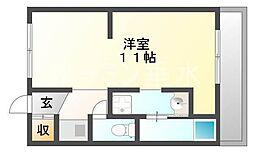 ハイツ神和[3階]の間取り
