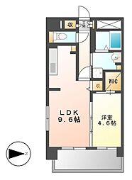 シェソワ東桜[8階]の間取り