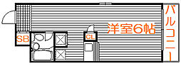 東京都板橋区南常盤台2の賃貸マンションの間取り