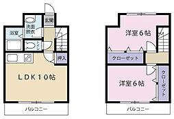 静岡県浜松市西区大平台3丁目の賃貸マンションの間取り