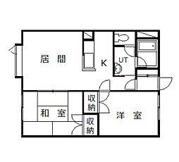 ロンシャン豊岡パートⅢ[1階]の間取り