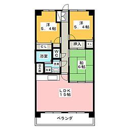 シャトレ愛松稲沢II[5階]の間取り