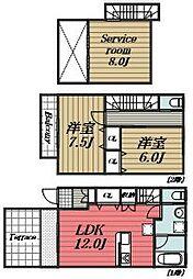 [タウンハウス] 千葉県成田市西三里塚 の賃貸【/】の間取り
