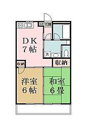 リキマンション[208号室]の間取り