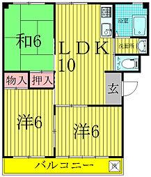 第三関東マンション[301号室]の間取り