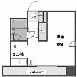 北海道札幌市中央区大通西17丁目の賃貸マンションの間取り