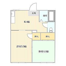 藤村アパート[101号室]の間取り