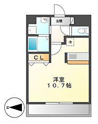 丹下キアーロ[4階]の間取り