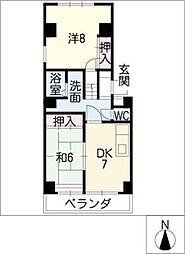 レジデンス永井[3階]の間取り