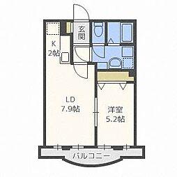グランメールN34[3階]の間取り