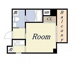 JJCOURT三先[4階]の間取り