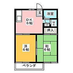 Clair Kitayama B棟[2階]の間取り