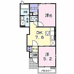 ひまわりII[1階]の間取り