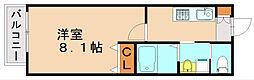 福岡県福岡市博多区新和町2丁目の賃貸アパートの間取り