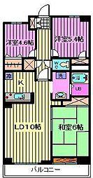 ルーレル大和田[3階]の間取り