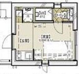 ラウム神楽坂 5階ワンルームの間取り