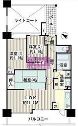 デイパーク横濱天王町[00203号室]の間取り