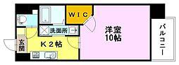 ウィステリア天神川 8階1Kの間取り