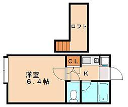 南里エクシード[2階]の間取り