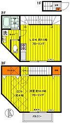 東京メトロ有楽町線 千川駅 徒歩6分の賃貸アパート 2階1LDKの間取り
