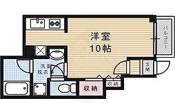 阪急今津線 仁川駅 徒歩5分の賃貸アパート 1階1Kの間取り