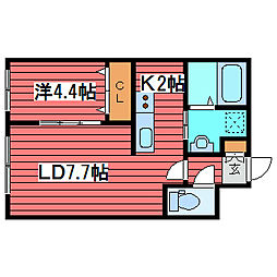 アルファ月寒中央通[2階]の間取り