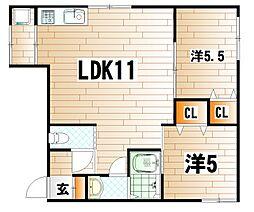 本庄ビル[2階]の間取り