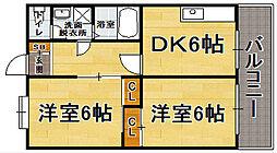 福岡県福岡市中央区薬院1丁目の賃貸マンションの間取り