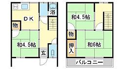 [テラスハウス] 兵庫県姫路市御立中4丁目 の賃貸【/】の間取り