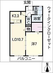 メゾン アンジュ I[1階]の間取り