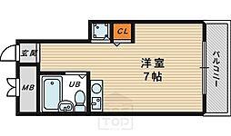 グランデール京橋[101号室]の間取り