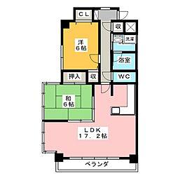 ROSE TOWER 元今泉[9階]の間取り