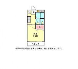 愛知県小牧市大字小松寺の賃貸アパートの間取り