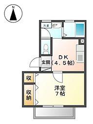 アネックスサンフラワ−[1階]の間取り