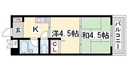 ヴィレッジ・レジデンス[3階]の間取り