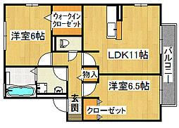 コンフォート東寝屋川[1階]の間取り