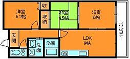 フローラルマンション[2階]の間取り