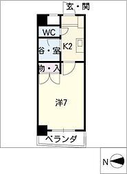 シャンポール大針II[2階]の間取り