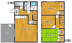 [タウンハウス] 福岡県福岡市博多区諸岡4丁目 の賃貸【/】の間取り