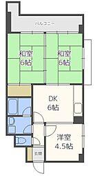 シティマンション平尾II[6階]の間取り