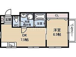第3テラダハイツ[2階]の間取り