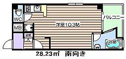 大阪府大阪市北区南扇町の賃貸マンションの間取り