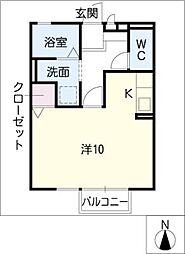 パルスギモト[2階]の間取り